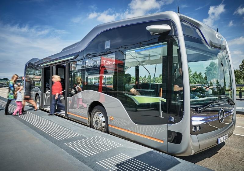 DaimlerBuses präsentiert autonom fahrenden Stadtbus der Zukunft