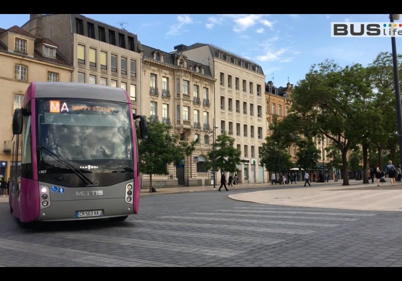 Mettis Busverkehrssystem in Metz, Frankreich