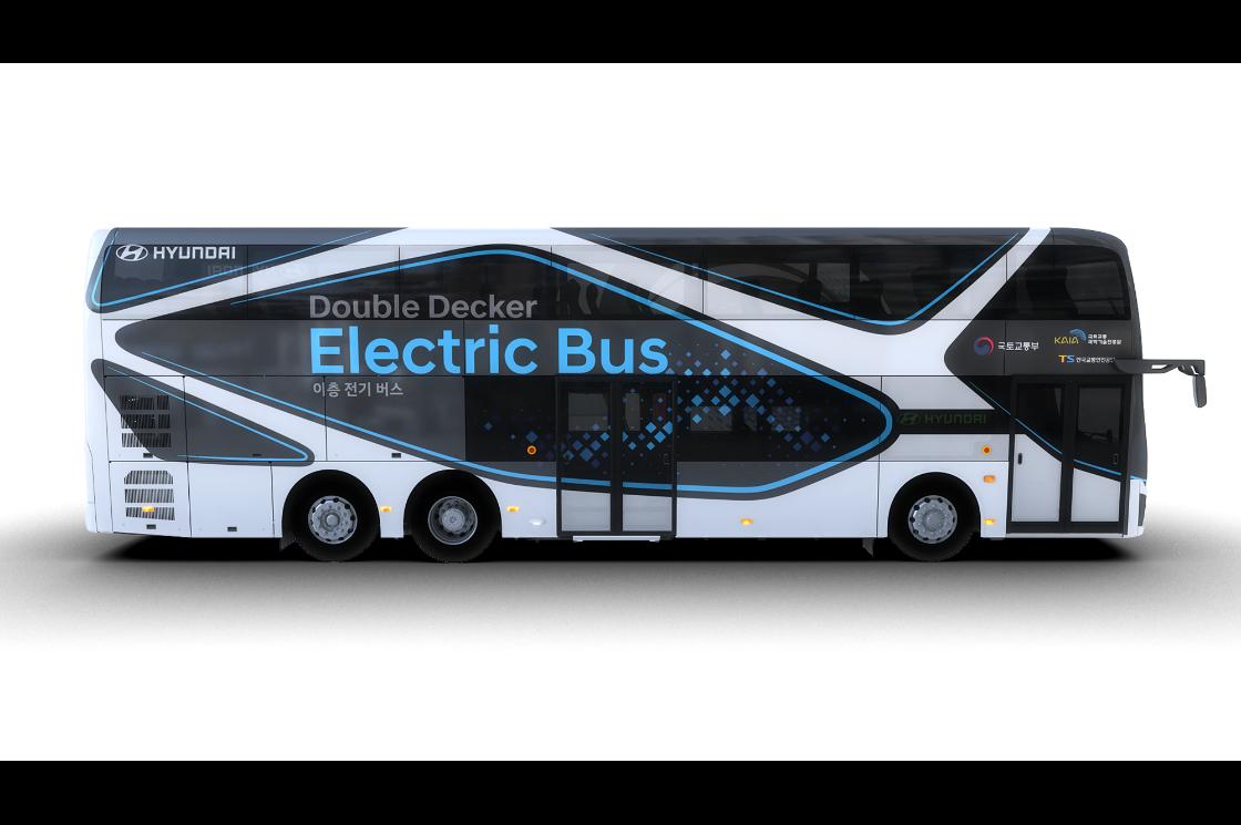 Hyundai Motor Introduces Electric Double-Decker Bus