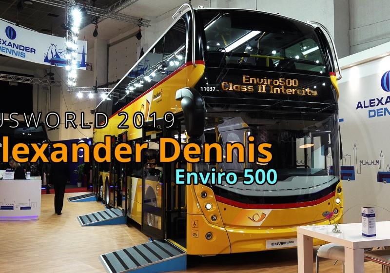 Alexander Dennis Enviro500 Doppeldeckerbus - Busworld 2019 Brussels, Belgien