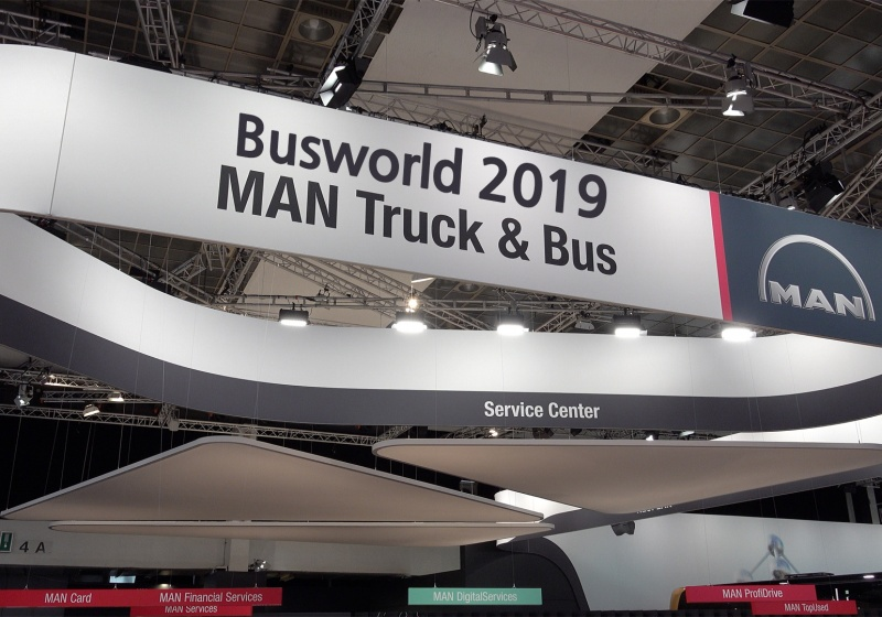 Vorstellung des MAN Lion's City in Busworld 2019, Brussels, Belgien.
