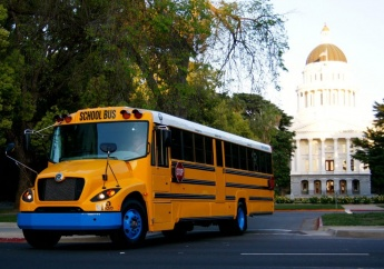 eLion electric bus rolls to school with no emissions